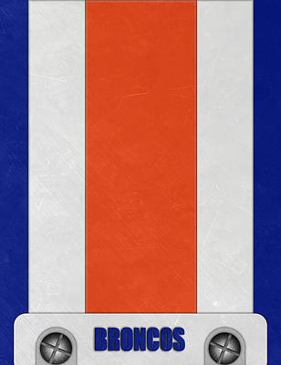 Denver Broncos Helmet Art Poster