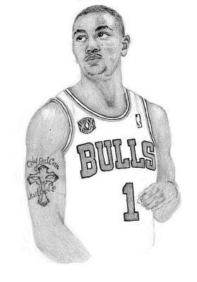 Derrick Rose Poster by Kiyana Smith