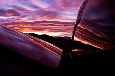 Desert Sunset  Poster by Carl Jackson