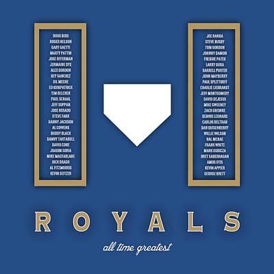 Kansas City Royals Art - Mlb Baseball Wall Print Poster by Damon Gray