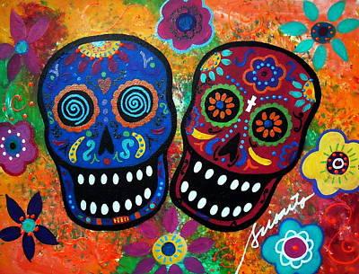 Dia De Los Muertos Couple Poster