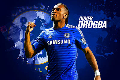 Didier Drogba Poster by Semih Yurdabak