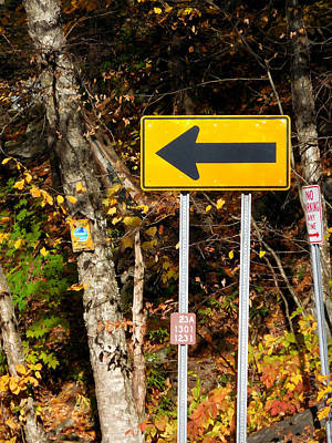 Directional Arrow Road Signs 2 Poster