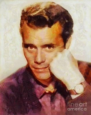 Dirk Bogarde, Vintage Actor Poster by Sarah Kirk