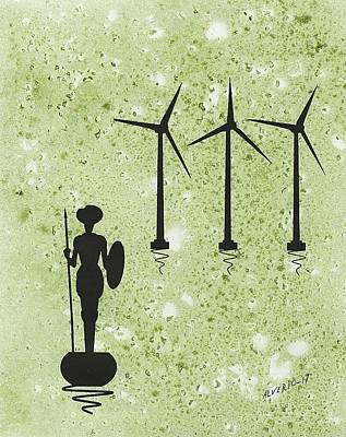 Don Quixote Vs The Windmills Poster