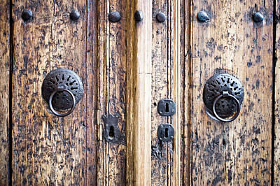 Door Handles Poster by Tom Gowanlock