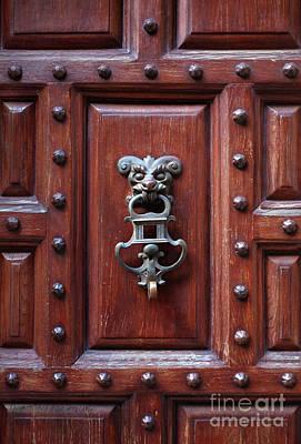 Door Knocker Poster by Carlos Caetano
