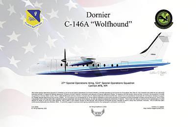 Dornier C-146a Wolfhound Poster