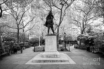 doughboy statue in abingdon square park greenwich village New York City USA Poster