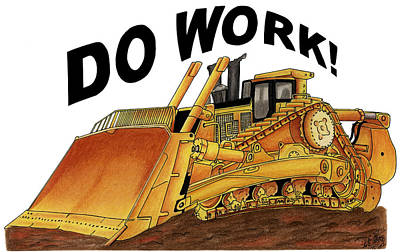 Dozer Toon Poster by Lyle Brown