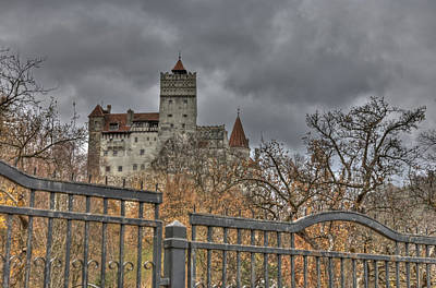 Poster featuring the photograph Dracula's Castle Transilvania In Hdr by Matthew Bamberg