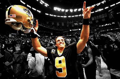 Drew Brees Poster by Brian Reaves