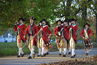 Drum And Fife On Palace Green, Colonial Williamsburg Virginia Poster
