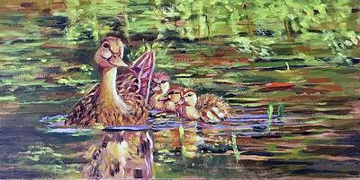 Duck Family Poster