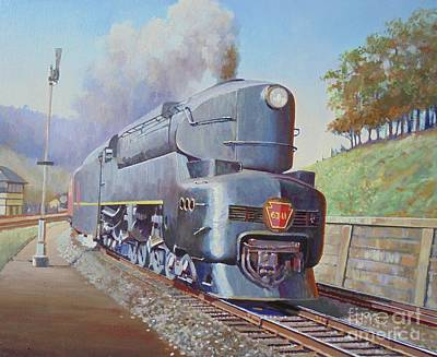 Poster featuring the painting Duplex Express by Mike Jeffries