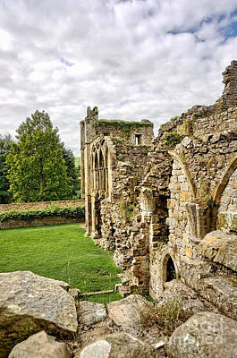 Easby Abbey Poster by Nichola Denny