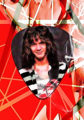 Eddie Van Halen Art Poster by Marvin Blaine