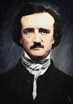 Edgar Allan Poe Poster by Taylan Apukovska