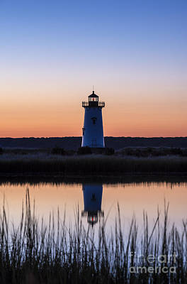 Edgartown Light Sunrise Poster