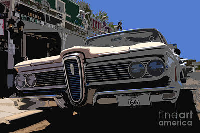 Edsel On Route 66 Poster by David Lee Thompson