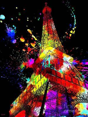 Eiffel Tower Grunge Poster