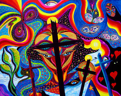 Poster featuring the painting Crosses To Bear by Marina Petro