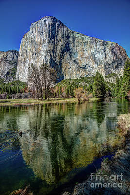 El Capitan Reflected In The Merced River Of Yosemite Poster