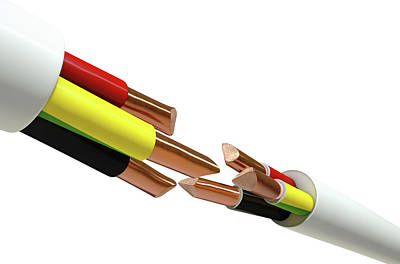 Electrical Cable Cut Poster