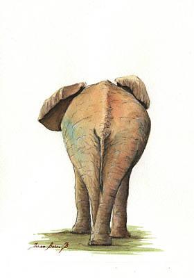 Elephant Back Poster by Juan Bosco