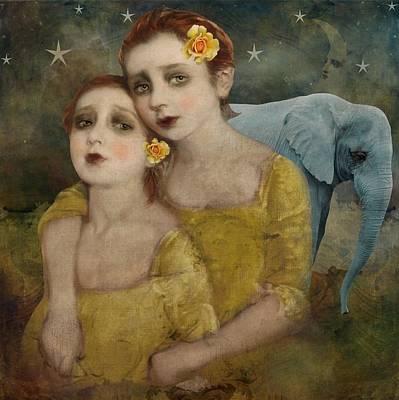 Elephant Dreamer Poster by Lisa Noneman