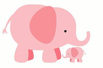 Elephant Love Poster by Chastity Hoff