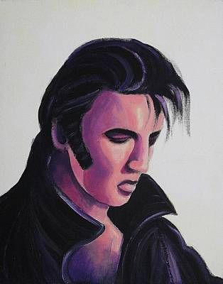 Elvis Poster by Suzanne  Marie Leclair