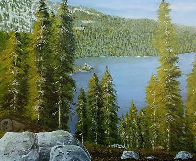 Emerald Bay - Lake Tahoe Poster by Mike Caitham