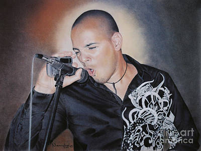 Emilio Singing His Heart Out Poster by Nanybel Salazar
