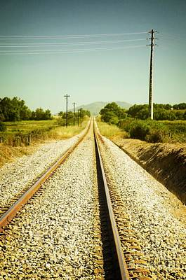Empty Railway Poster by Carlos Caetano