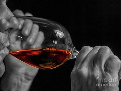 Enjoying Wine Poster