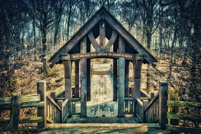 Poster featuring the photograph Entrance To Seven Bridges - Grant Park - South Milwaukee #3 by Jennifer Rondinelli Reilly - Fine Art Photography