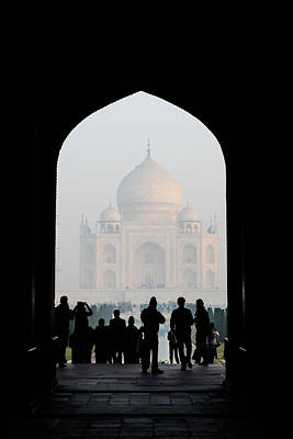 Entrance To The Taj Mahal Poster