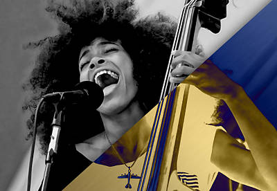 Esperanza Spalding Collection Poster by Marvin Blaine