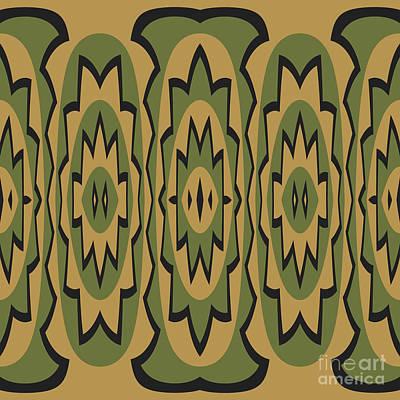 Ethnic Geometric Pattern Poster by Gaspar Avila