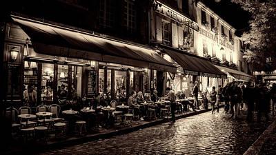 Evening Out - Paris Poster