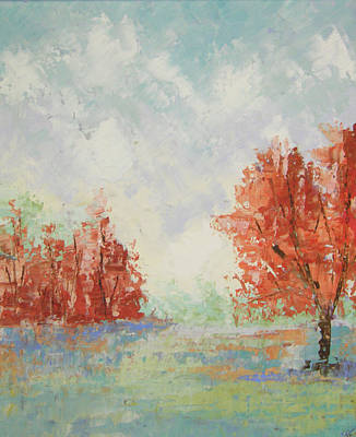 Fall In Provence Poster by Frederic Payet