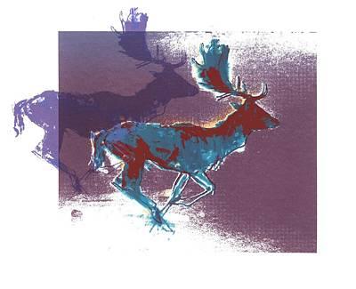 Fallow Bucks Poster by Mark Adlington