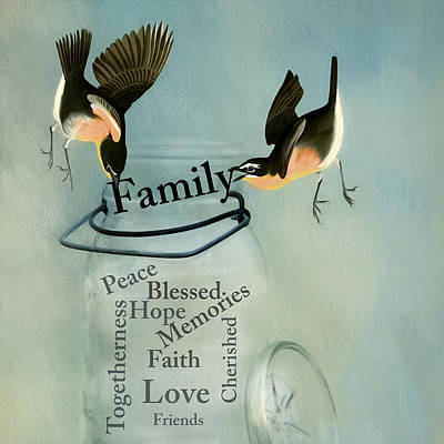 Poster featuring the photograph Family by Robin-Lee Vieira