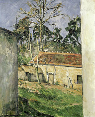 Farmyard Poster by Paul Cezanne