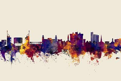Fayetteville Arkansas Skyline Poster