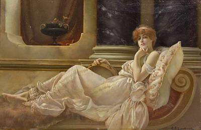 Femme Sur La Chaise Poster by Charles Frederick