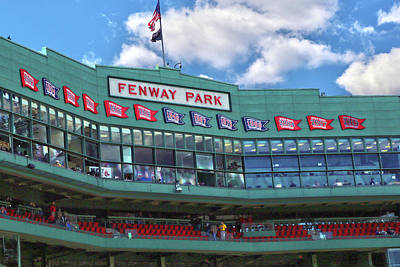 Poster featuring the photograph Fenway Park by Mitch Cat
