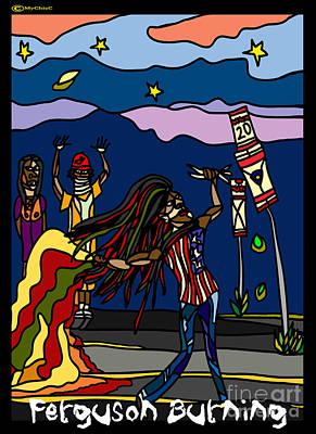 Ferguson Burning II Poster by Art by MyChicC