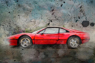 Poster featuring the photograph Ferrari 308 by Joel Witmeyer